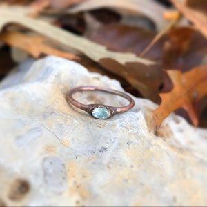 Tanzanian blue moonstone ring
